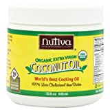 Nutiva Organic Extra Virgin Coconut Oil, 15-Ounce Tubs (Pack of 2) ~ Nutiva