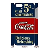 Personalized Creative coca-cola old 5 cents iPhone 5 Case, Best Durable Coca Cola iPhone 5/5S Case Cover