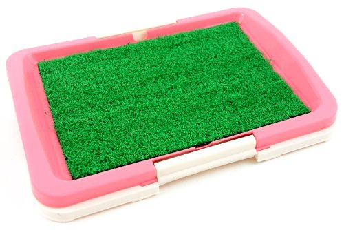 "Puppy Potty Trainer (Pink) Indoor Grass Training Patch - 3 Layers - 18"" X 13"""