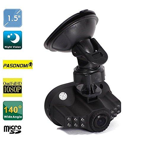 Pasonomi C600 1080P Full Hd Car Dvr 12 Ir Led Carcam G-Sensor Camera 120A+ Grade High-Resolution Ultra Wide-Angle Len