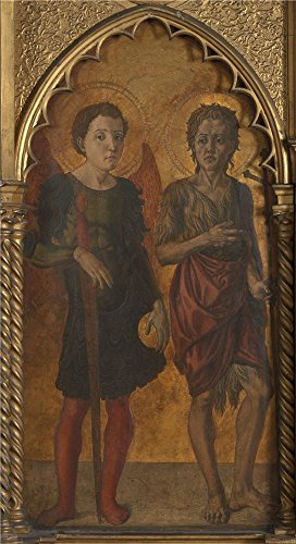 Oil Painting 'Jacopo Di Antonio (Master Of Pratovecchio) Saints Michael And John The Baptist ' Printing On Perfect Effect Canvas , 16 X 29 Inch / 41 X 75 Cm ,the Best Home Theater Decoration And Home Artwork And Gifts Is This Beautiful Art Decorative Prints On (Farm Tractor Deluxe Party Pack)