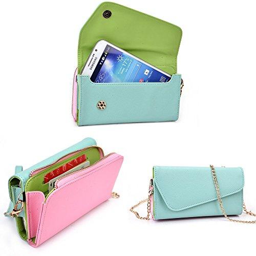 Smartphone Wallet Fits Intex Aqua Octa | Nursery Blue & Pink front-1055282