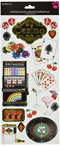 Sandylion Casino Embossed Sticker, 5-Inch by 13.5-Inch - 1