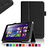 Fintie Lenovo IdeaTab Miix 2 8 Tablet Folio Case Cover - Premium Leather With Stylus Holder (Only Fit Lenovo Miix 2 8 Inch Tablet Windows 8.1) - Black
