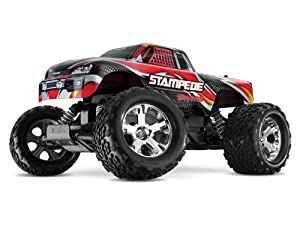Stamped Monster Truck RTR w/XL-5 w/Batt&Char: Red