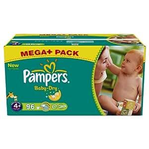 Pampers Baby Dry Windeln Gr. 4 plus Maxi Plus 9-20 kg Mega plus Pack , 96 Stück