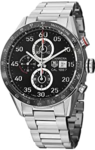 Tag Heuer Carrera Black Dial Stainless Steel Automatic Chronograph Mens Watch CAR2A10.BA0799