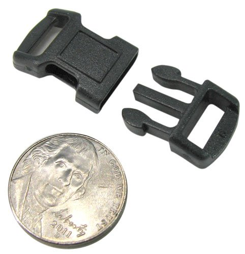 3-8-side-release-paracord-snap-buckles-pack-of-10-black-plastic