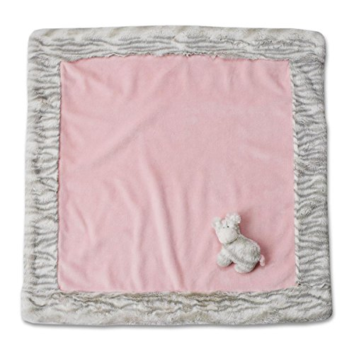 Nat and Jules Blanket and Zebra Rattle Set, Pink - 1