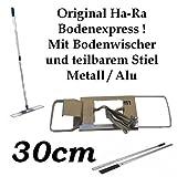 Ha-Ra Bodenexpress KOMPLETT mit teilbarem Stiel – 30cm Arbeitsbreite