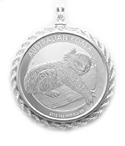 Amazon Com Sterling Silver 2012 1 Oz Koala Coin Bezel