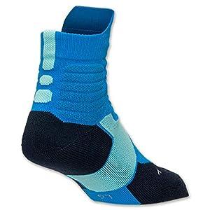 Men's Nike Hyper Elite Basketball High Quarter Socks-photo Blue/obsidian/bleached Turquoise