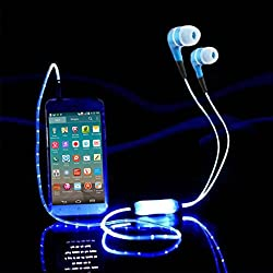 LED GLOWING EARPHONES/HEADPHONE WITH MIC - LIGHTS FLASHING SYNCED WITH MUSIC BEATS