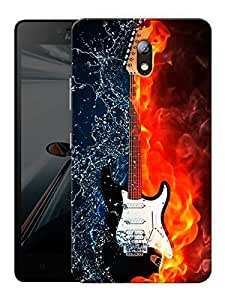 "Burning Guitar Printed Designer Mobile Back Cover For ""Lenovo Vibe P1m"" By Humor Gang (3D, Matte Finish, Premium Quality, Protective Snap On Slim Hard Phone Case, Multi Color)"