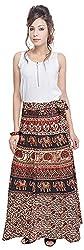 Soundarya Women's Cotton Wrap Skirt (6048, Long)