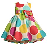 New Bonnie Jean Infant Girls Dot Birthday Dress 18M