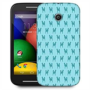 Snoogg Abstract Dog Pattern Designer Protective Phone Back Case Cover For Motorola E / Moto E