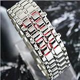 ZooooM メタル ブレスレット ユニーク おもしろ デザイン デジタル ウォッチ 腕 時計 ファッション カジュアル ギフト プレゼント 女性 レディース ( シルバー ) ZM-WATCH1925-SV