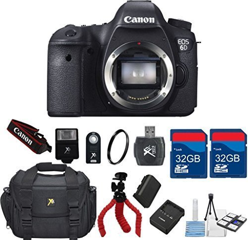 Canon-EOS-6D-202-MP-CMOS-Digital-SLR-Camera-Body-Only-64GB-In-Memory-Deluxe-Camera-Carry-Case-Accessory-Bundle-International-Version