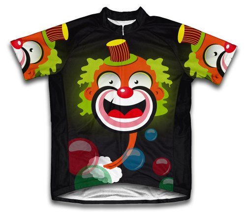 Bubbly Clown Short Sleeve Cycling Jersey for Men