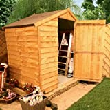 BillyOh 3'x6' Windowless Classic Value Overlap Wooden Garden Shed