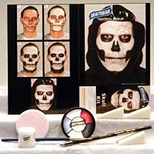 Graftobian Unisex Adult Skull Makeup Kit by Graftobian