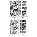 Ejiubas Double-Side Nail Art Image Manicure Stamping Plates ** Wonders Of Life ** Nail Art Stamp Collection 2...