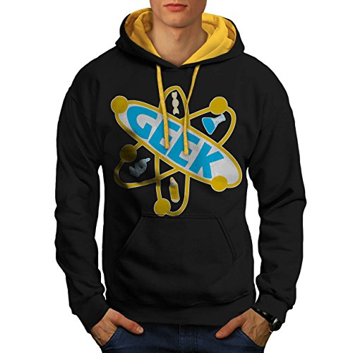 geek-brain-element-nerd-atom-men-new-black-gold-hood-m-contrast-hoodie-wellcoda