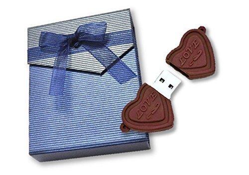PLATA おもしろ USB メモリ 16GB 【 ハート型 】 バレンタイン プレゼント に最適!ギフトボックス 付き