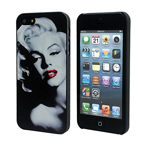 Harryshell Apple Iphone 5S Case, Marilyn Monroe Famous And Sexy Design Hard Plastic Protective Back Case Cover Compatible With Apple Iphone5 5S 5G (2B)