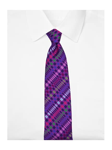 Duchamp Men's Optical Check Tie, Honesty