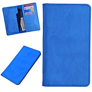 DCR Pu Leather case cover for Intex Aqua N2 (sky blue)