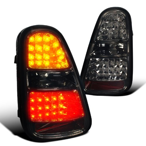 Spec-D Tuning LT-MINI06GLED-TM Mini Cooper S Smoke Led Tail Lights Brake Reverse Signal Lamp (Mini Cooper Tuning compare prices)