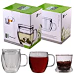 "Feelino 400ml Teeglas + Wei�tee ""One..."