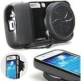GMYLE(R) Noir zoomer TPU cas avec capuchon d'objectif etui coque housse pour Samsung Galaxy S4 Zoom SM-C1010, SM-C101