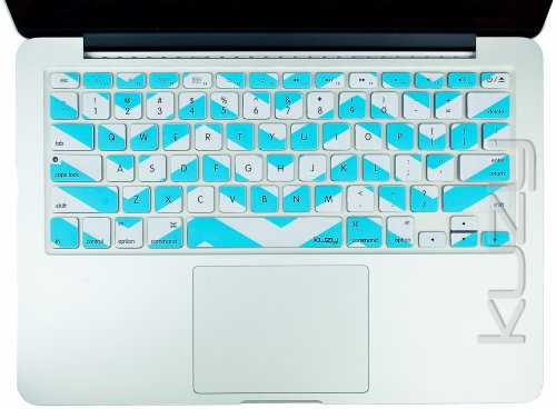 #>>  Kuzy - Teal Hot Chevron Zig-Zag Keyboard Cover for MacBook Pro 13