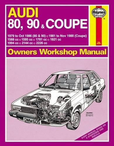 Audi 80, 90 and Coupe 1979-88 Owner's Workshop Manual (Service & repair manuals)
