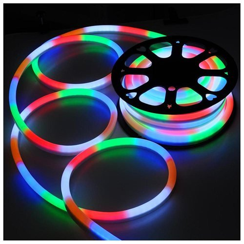 50 Ft Multi Color Red Green Blue Orange White Rgbow Flex Led Neon Rope Light Decorative Holiday
