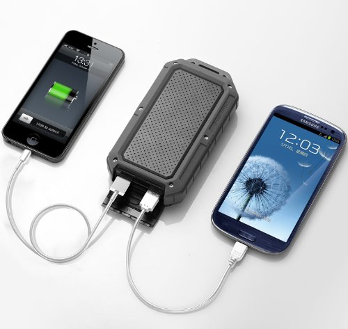 New Trent PowerPak Xtreme 12000mAh Rugged Water/Dirt/Shockproof Dual USB Port External Battery Charger/Power Pack for Smartphones, Tablets and more