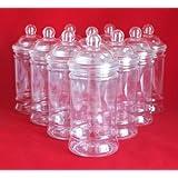 Plastic Victorian Style Jar 500ml - Pack of 5