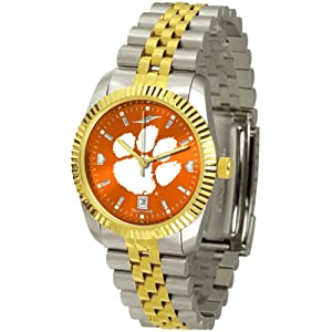 Clemson Tigers NCAA AnoChrome Executive Mens Watch by SunTime