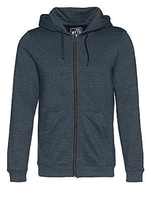 Tom Tailor Denim Men's Mélange Sweatjacket Sweatshirt