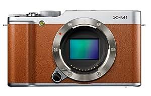 Fujifilm X-M1 kompakte Systemkamera (16 Megapixel, 7,6 cm (3 Zoll) LCD-Display, Full HD, WiFi) nur Gehäuse braun
