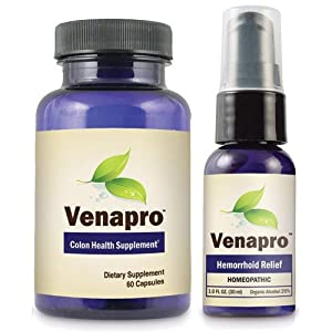 Venapro Colon Health Supplements Colon Cleanse (One Month Supply)