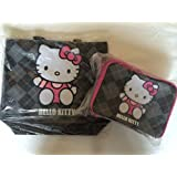 Super Cute Combo Pack Hello Kitty Embroidered Applique Tote Bag Dimension: 14.5 X 13.5 X 5 And Lunch Box Bag Dimension... - B00L8HCBBA