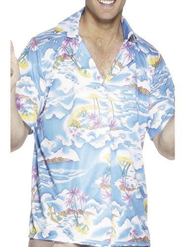 Smiffys, Herren Hawaii Hemd, Hemd, Blau, Größe: M, 25259