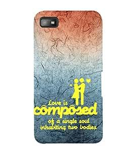 EPICCASE love is composed Mobile Back Case Cover For BlackBerry Z10 (Designer Case)