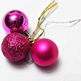 Best Choose 24pcs Cerise Xmas Tree Decoration Christmas Glitter Balls Ornament
