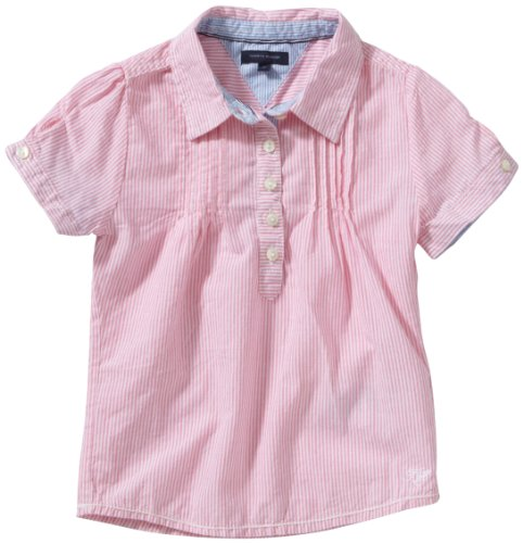 Tommy Hilfiger Girls Blouse Age 6 Ultrabright Pink