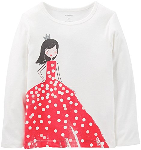 Carter'S Little Girls' Graphic Tee (Toddler/Kid) - Ivory - 5 front-136172